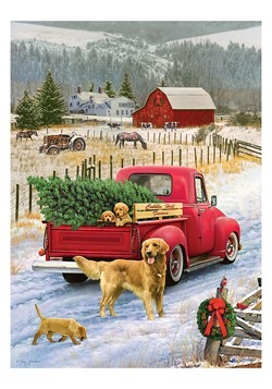 Christmas on the Farm 1000 Piece Cobble Hill Puzzl Alt 1
