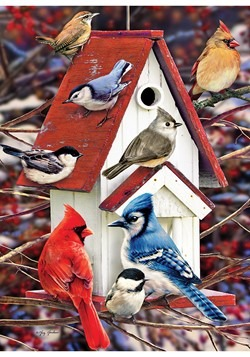 Winter Birdhouse 1000 Piece Cobble Hill Puzzle Alt 1