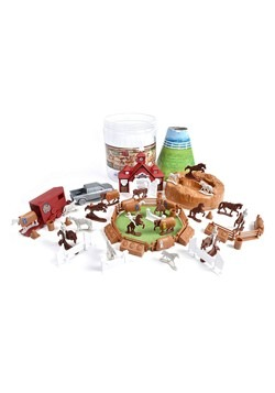 Bucket of Horses Toy Set Alt 2