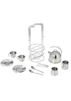 Melissa & Doug Stainless Steel Tea Set Alt 1
