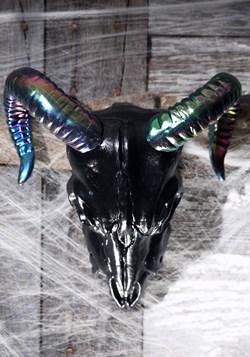 """Oil Slick Black Ram Skull 11"""" Update"""
