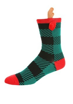 Novelty Reindeer Crew Socks Alt 1