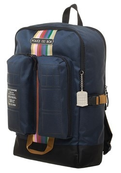 Doctor Who Tardis Double Pocket Backpack Alt 1
