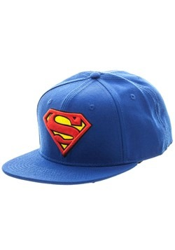 Superman Blue Snapback Hat Alt 1