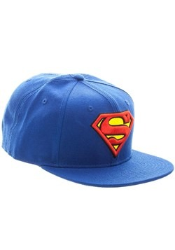Superman Blue Snapback Hat Alt 2