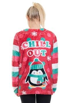 Ugly Xmas Penguin Plush Fleece Pullover Alt 1