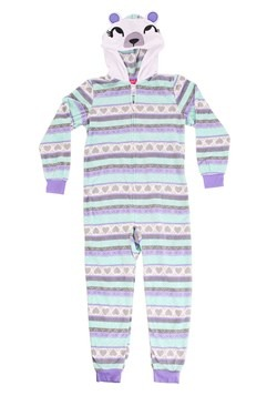 Girls Pastel Bear Hooded Blanket Sleeper