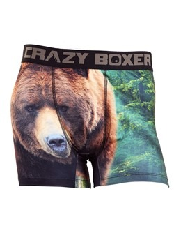 Crazy Boxers Grizzly Bear Mens Boxers Briefs
