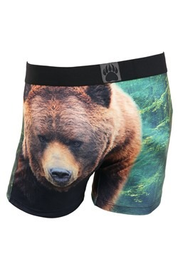 Crazy Boxers Grizzly Bear Mens Boxers Briefs Alt 1