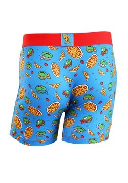 Crazy Boxers TMNT Pizza Men's Boxer Briefs Alt 1