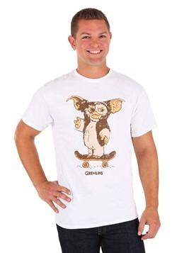 Gremlins Gizmo Skateboard White T-Shirt