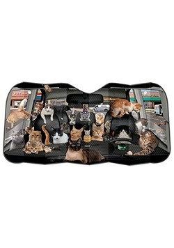 Car Full of Cats Auto Sunshade Alt 1