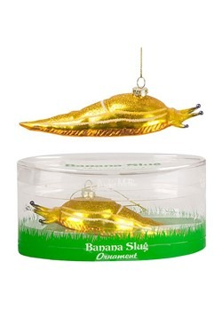 Banana Slug Glass Ornament
