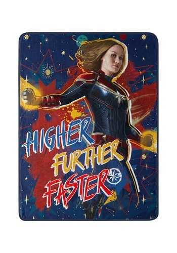 "Captain Marvel Higher 40"" x 60"" Super Soft Throw"