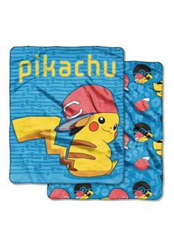 Pokemon Ash Loyal Double Sided Cloud Throws