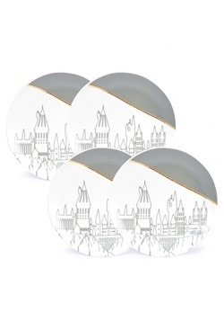 Harry Potter Hogwarts 4 Pack Plate Set