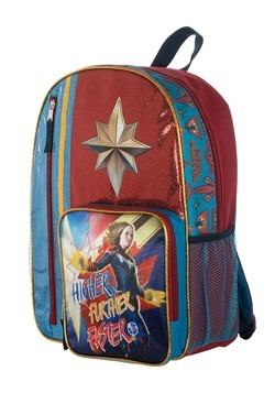 Kids Captain Marvel Backpack Alt 1