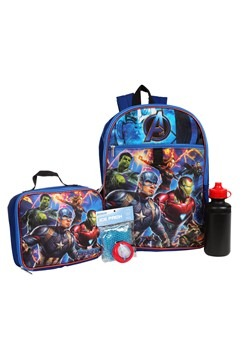 Kids Avengers 5 PC Backpack Set