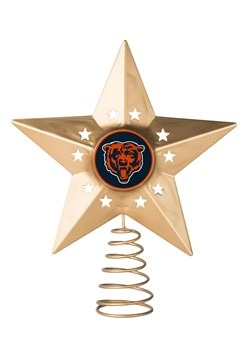 Chicago Bears Christmas Metal Tree Topper