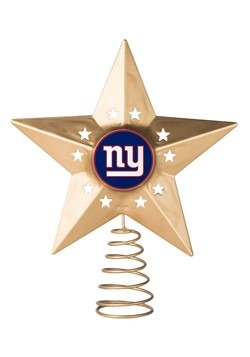 New York Giants Christmas Metal Tree Topper