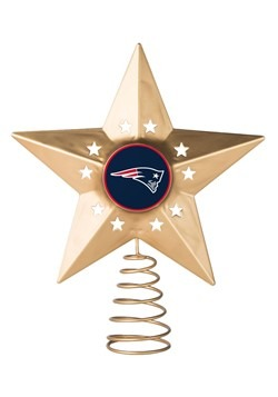 New England Patriots Christmas Metal Tree Topper
