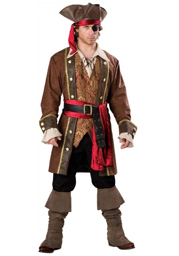Captain Skullduggery Skipper Pirate Costume