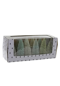 Green Rainbow Sisal Trees - Set/12