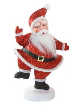 Retro Glitter Santa Tabletop Christmas Decor