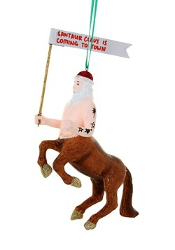 Santaur is Coming to Town Christmas Ornament