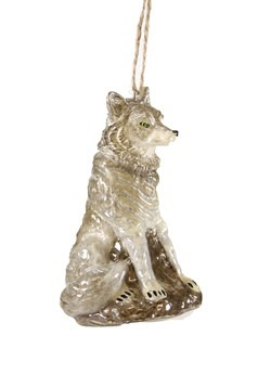 Wolf Glass Christmas Ornament