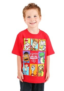 Boys Toy Story 4 Group Boxes Red T-Shirt