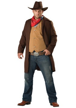 Plus Size Rawhide Cowboy Costume For Men