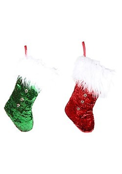Reversible Jingle Bell Sequin Stocking