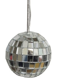 "4"" Mirror Disco Ball Ornament 4pc"