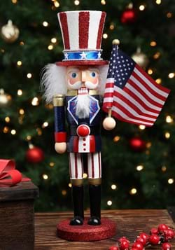 "15"" Wooden Uncle Sam Nutcracker"