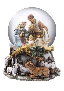 Nativity Holy Family Musical Waterglobe
