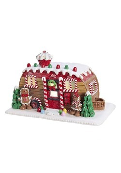 LED Camper Gingerbread House Tablepiece