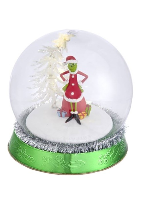 "4.5"" Grinch w/ Tree LED Light Up Globe Tabletop Piece"
