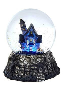 LED Haunted House Waterglobe
