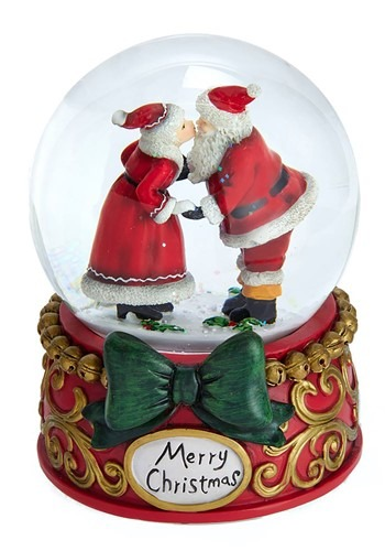 Mr. & Mrs. Claus Snowglobe Musical