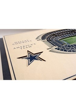 Dallas Cowboys 5-Layer Stadium Wall Art Alt 1