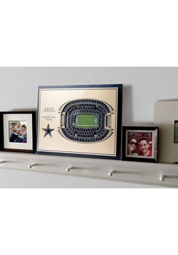 Dallas Cowboys 5-Layer Stadium Wall Art Alt 4