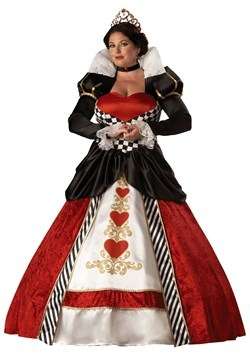 Womens Queen of Hearts Plus Size Costume