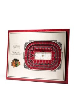 Chicago Blackhawks 5-Layer Stadium Wall Art