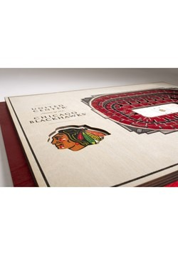 Chicago Blackhawks 5-Layer Stadium Wall Art Alt 3