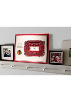 Chicago Blackhawks 5-Layer Stadium Wall Art Alt 4
