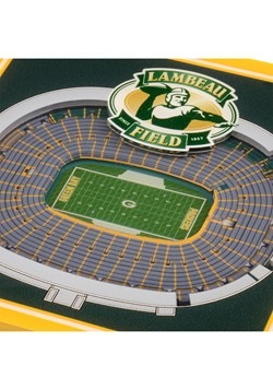 Green Bay Packers 3D Stadium Coasters Alt 1