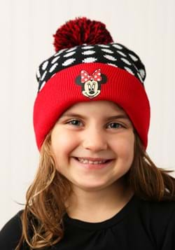 Minnie Mouse Cuffed Winter Hat Set with Gloves