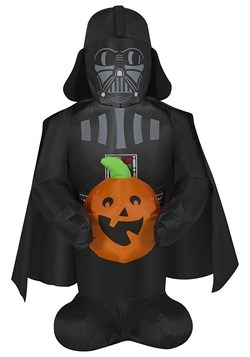 Star Wars Inflatable Darth Vader Holding Pumpkin Decoration