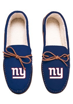 NEW YORK GIANTS TEAM COLOR BIG LOGO MOCCASIN
